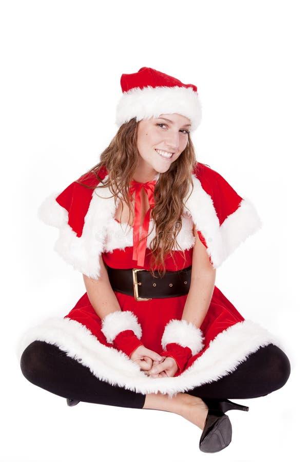 Mrs Santa sitting