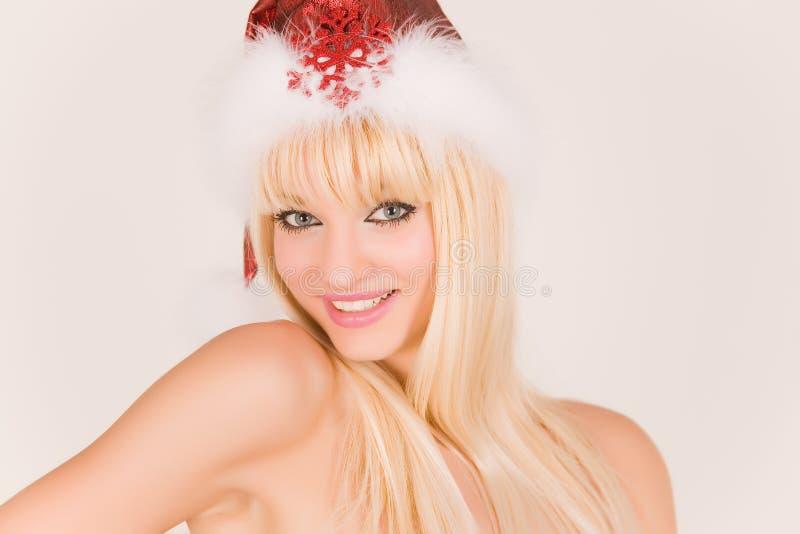 mrs santa smiling στοκ φωτογραφίες με δικαίωμα ελεύθερης χρήσης