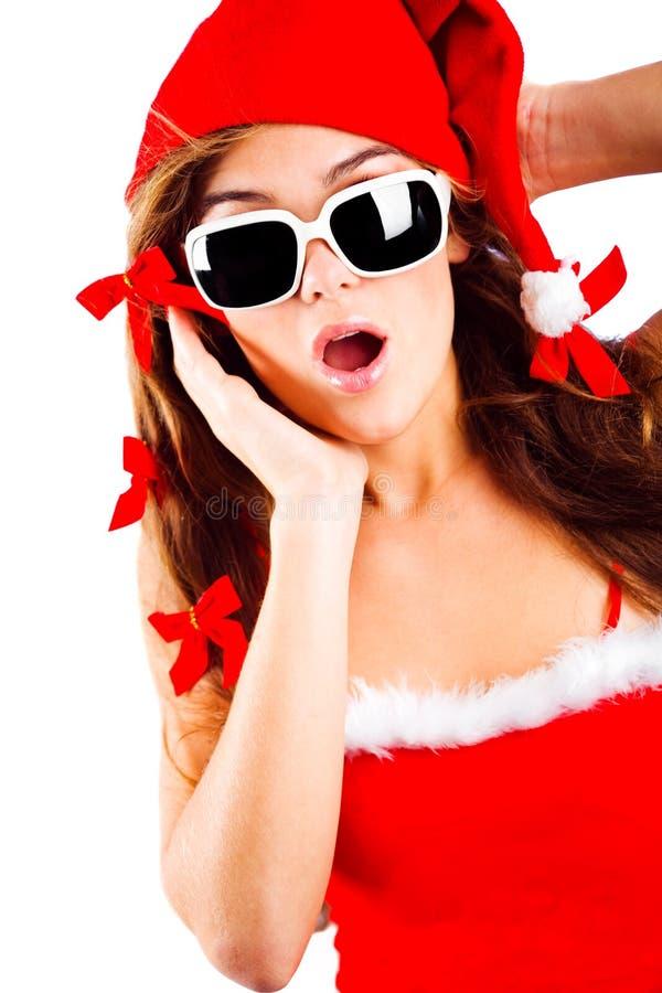 mrs Santa zaskakujący zdjęcie royalty free