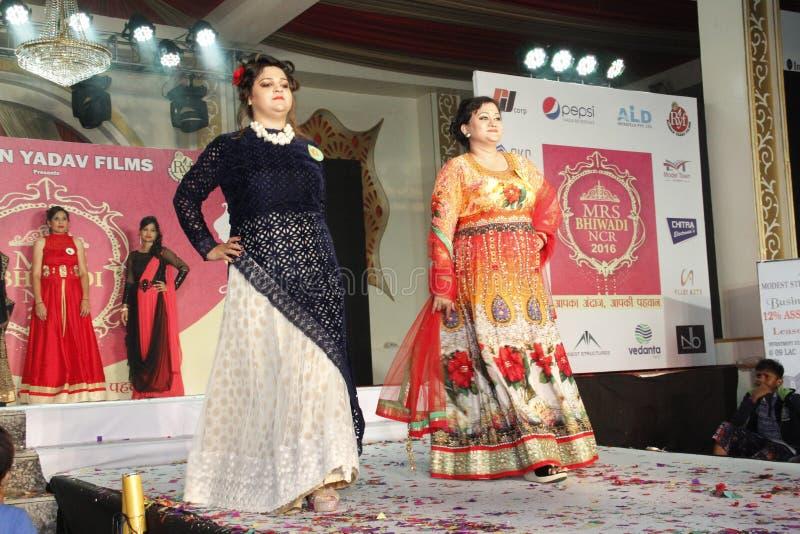 mrs Show för Bhiwadi NCR Faishon - Raman Yadav royaltyfria bilder