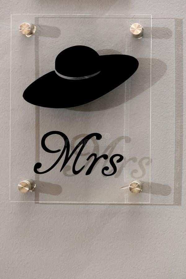 mrs Tecken arkivbild