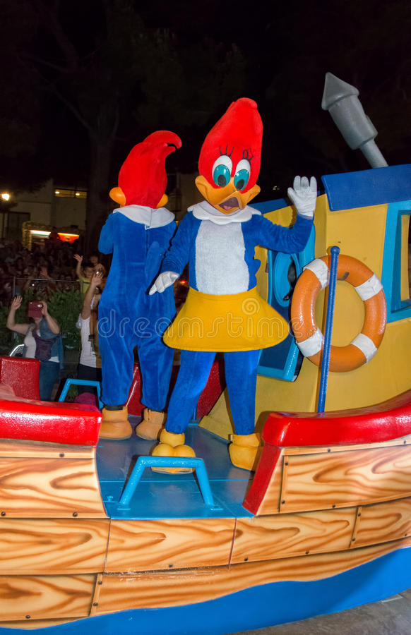 Mrs Woody Woodpecker stock images