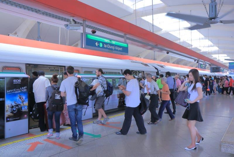 MRT驻地新加坡 库存图片