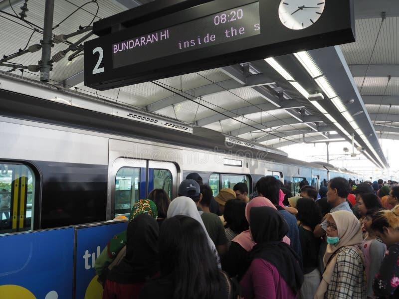 MRT Jakarta royaltyfri bild