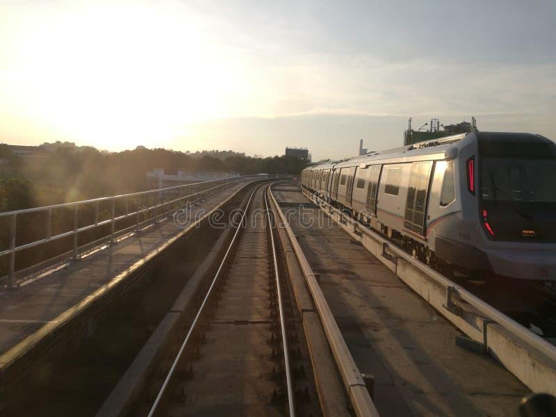 MRT KL in de Ochtend royalty-vrije stock foto's