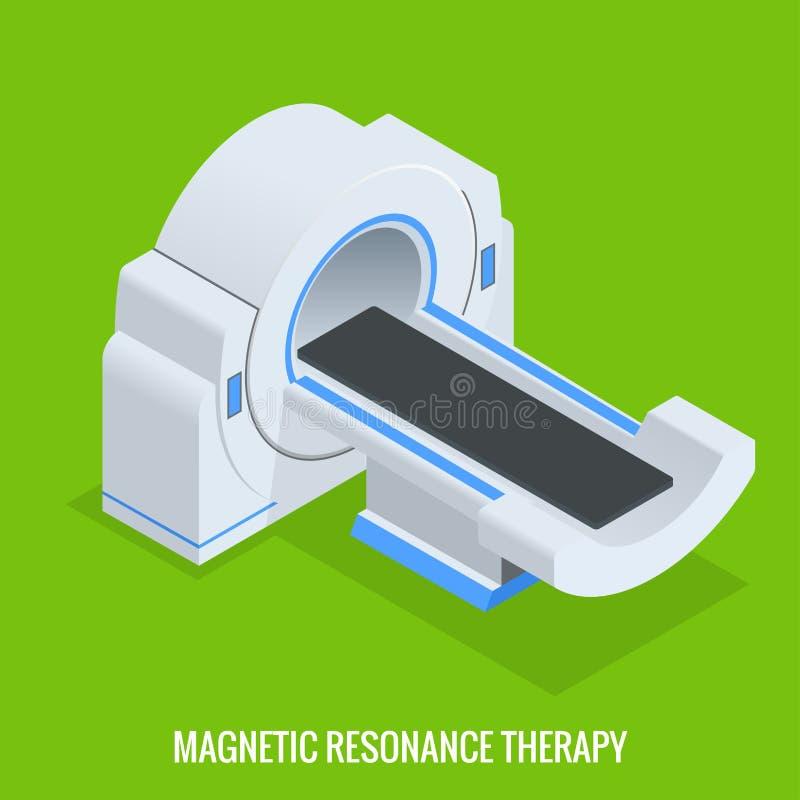 Mrt-maskin för kopiering för magnetisk resonans i radiologi i ett sjukhus Datoriserad Tomography, röntgenstråle med den åtskillig stock illustrationer