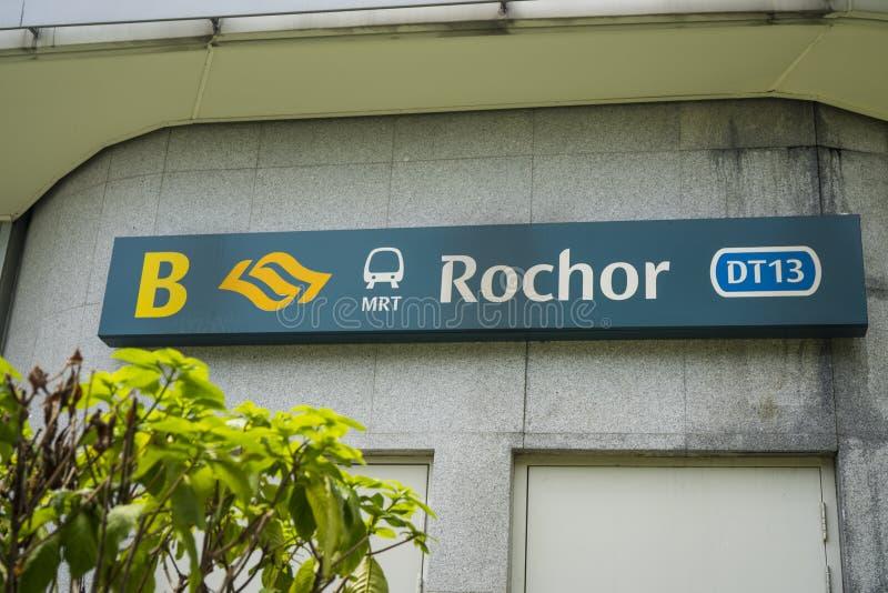 MRT Rochor σταθμός στη Σιγκαπούρη στοκ εικόνες