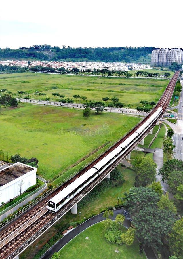 MRT trein in Choa Chu Kang stock foto's