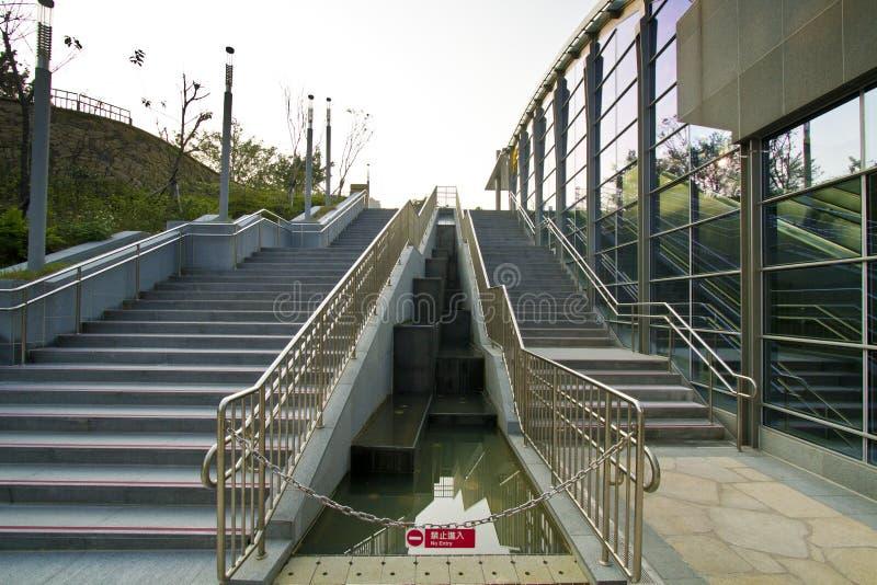 MRT van Taipeh post (Daan Park Station) stock afbeeldingen