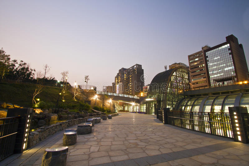 MRT van Taipeh post (Daan Park Station) royalty-vrije stock fotografie