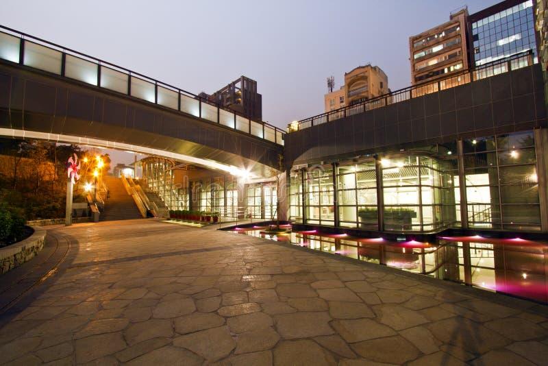 MRT van Taipeh post (Daan Park Station) stock afbeelding