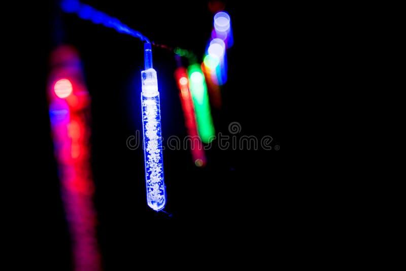Mrugać długo świateł - boże narodzenia, nowy rok dekoracje 13 zdjęcie stock