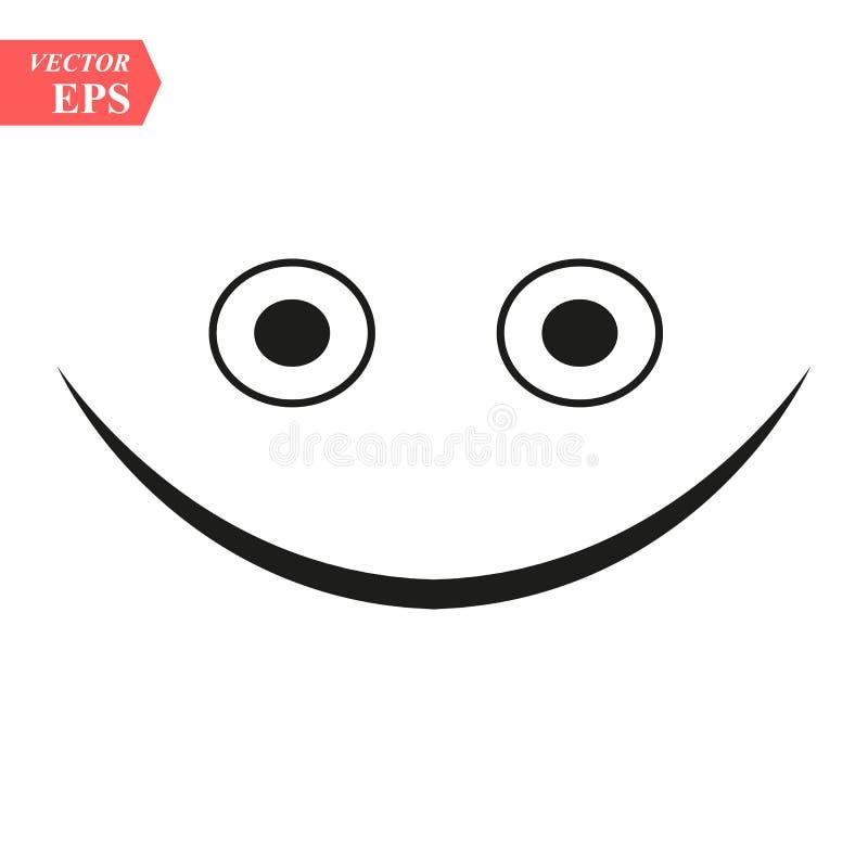 Mrugać kreskowego smiley Ciency kreskowi uśmiechów emoticons odizolowywający na białym tle również zwrócić corel ilustracji wekto ilustracja wektor