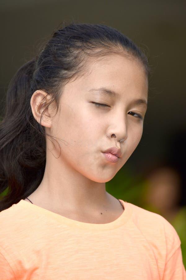 Mrugać Pięknej Różnorodnej dziewczyny zdjęcia royalty free
