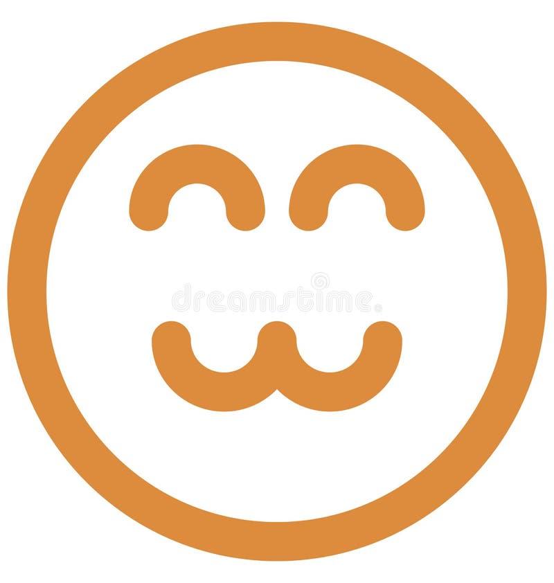 mruga, emoticons Wektorowa Odosobniona ikona kt?ra mo?e ?atwo redagowa? lub modyfikowa? ilustracja wektor
