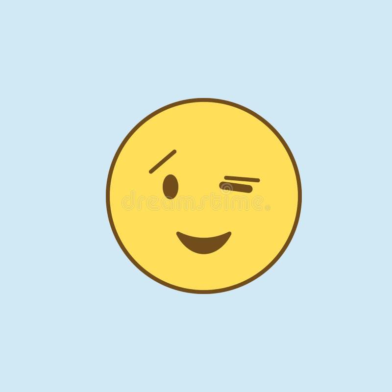 mrugnięcia 2 barwiąca kreskowa ikona Prosta koloru żółtego i brązu elementu ilustracja mrugnięcia pojęcia konturu symbolu projekt ilustracji