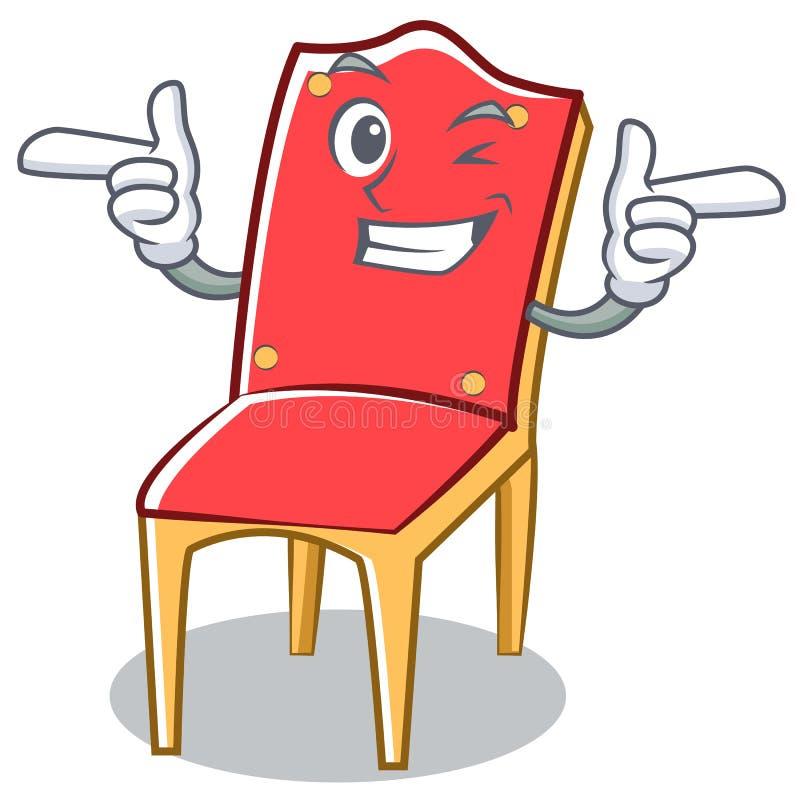 Mrugnięcia krzesła charakteru kreskówki kolekcja royalty ilustracja
