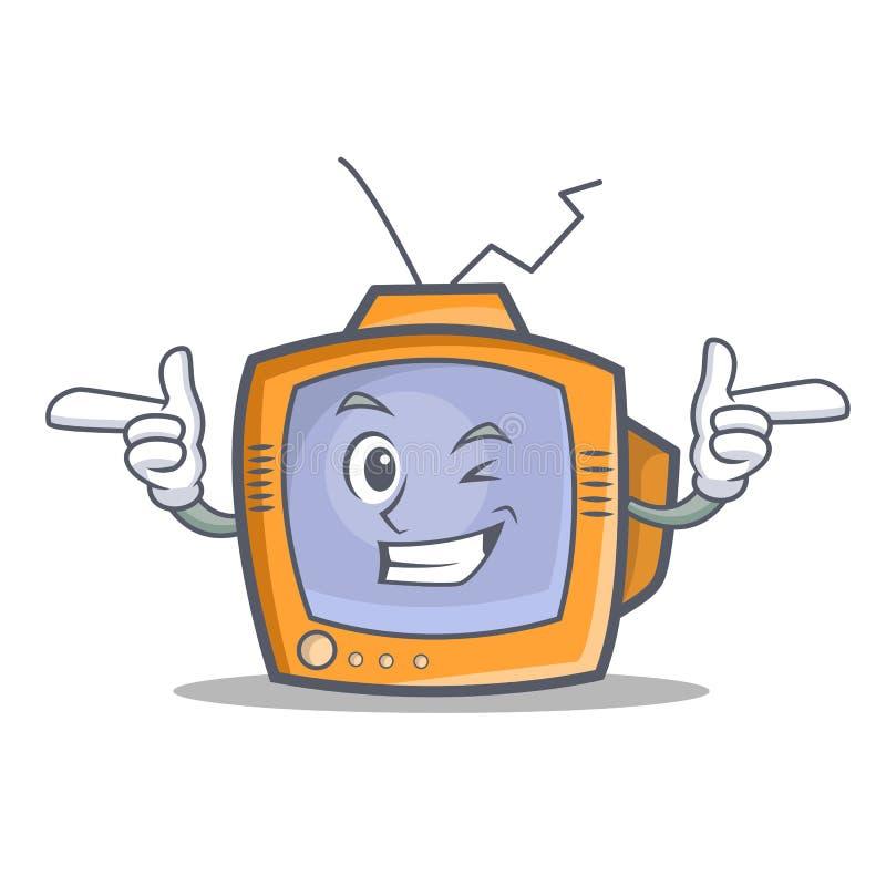 Mrugnięcia TV charakteru kreskówki przedmiot royalty ilustracja