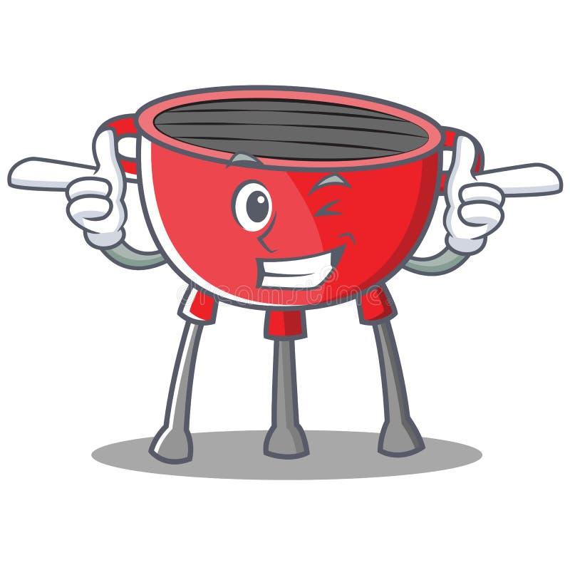 Mrugnięcie grilla grilla postać z kreskówki royalty ilustracja