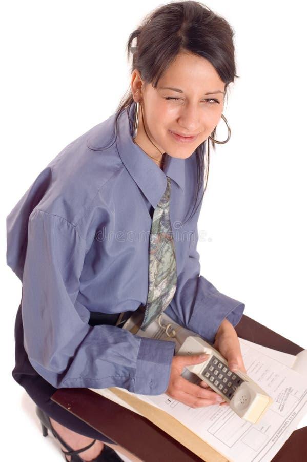 mrugnij biznesowej kobieta zdjęcie stock