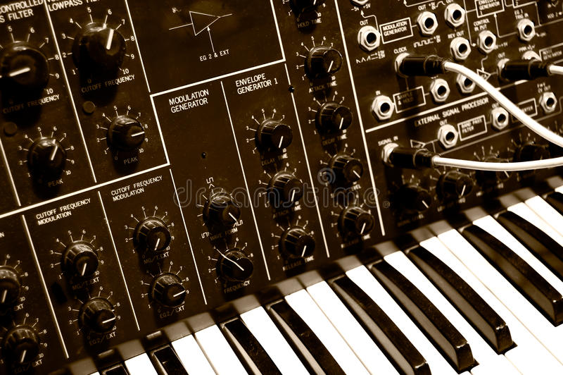 MS-20 3. Legendary analog synthesizer from the seventies - MS-20 royalty free stock photos
