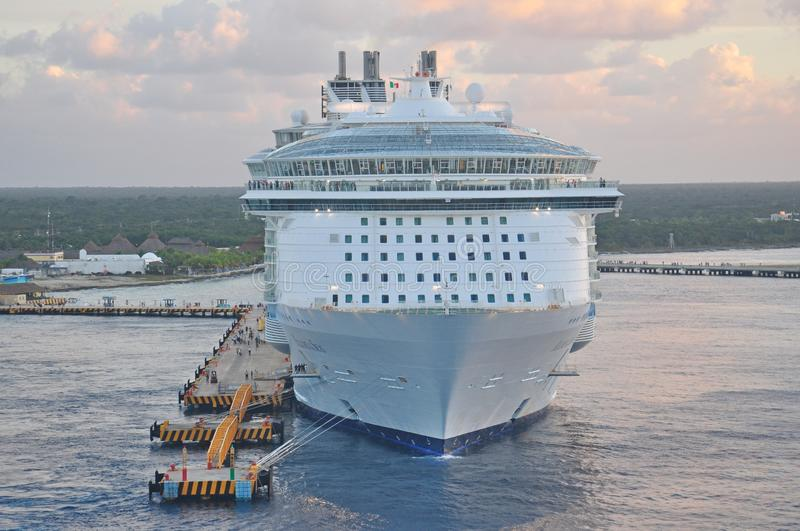 MS Allure of the Seas in Cozumel, Mexico stock photo
