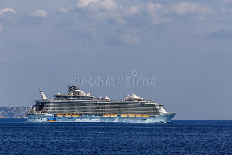 MS Allure of the Seas royalty free stock image