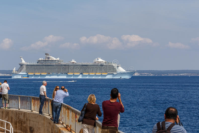 MS Allure of the Seas leaving Palma stock photo
