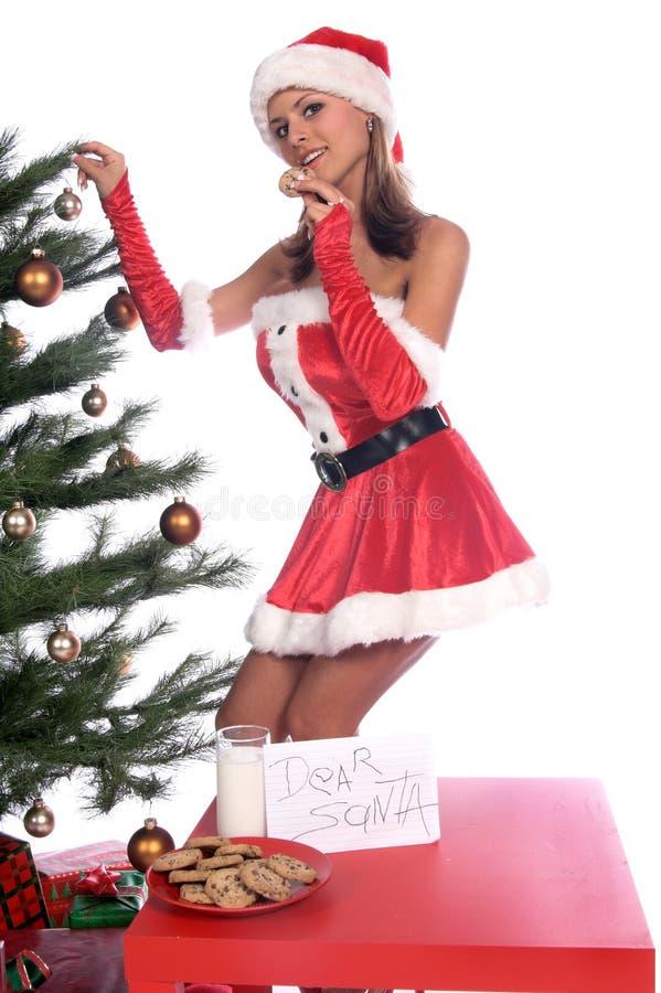 Ms atractivo Santa foto de archivo libre de regalías