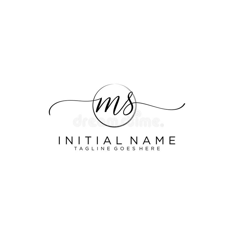Free MS Beauty Vector Initial Logo, Handwriting Logo Of Initial Signature Stock Photos - 160999963