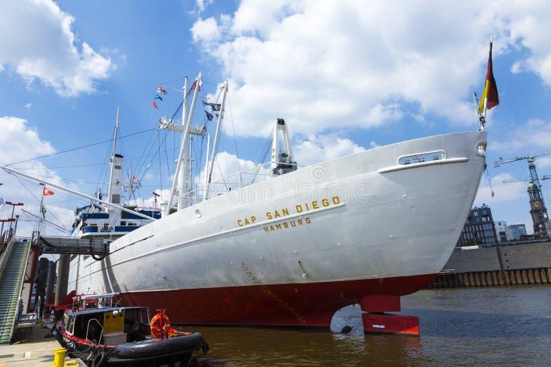 MS Cap San Diego no porto de Hamburgo imagem de stock royalty free