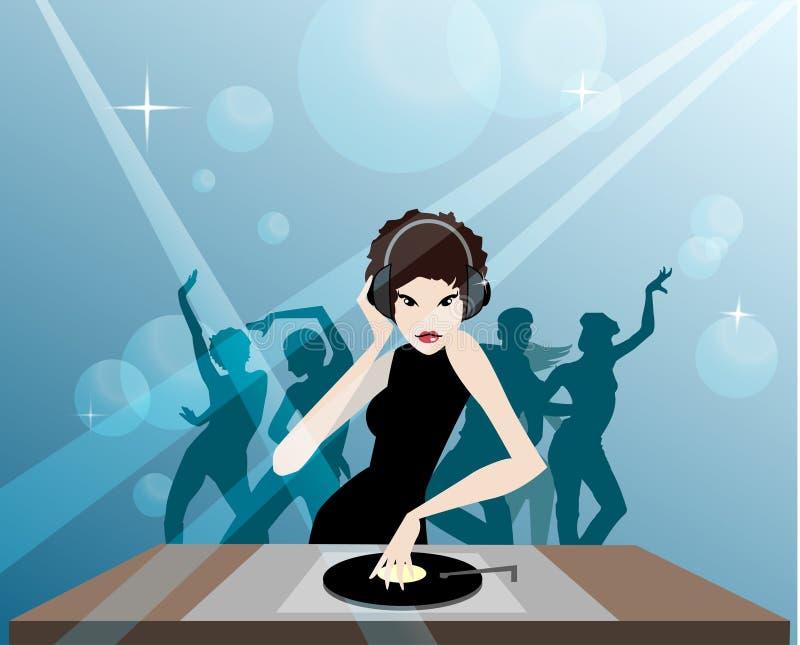 MS DJ ilustración del vector