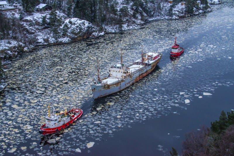 Download Ms hamen being towed stock illustration. Illustration of nordic - 28170812