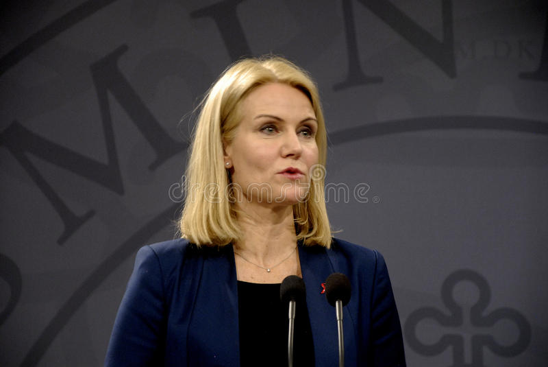 Ms HELLE THORNING-SCHMIDT_DANISH PIERWSZORZĘDNY minister obrazy royalty free