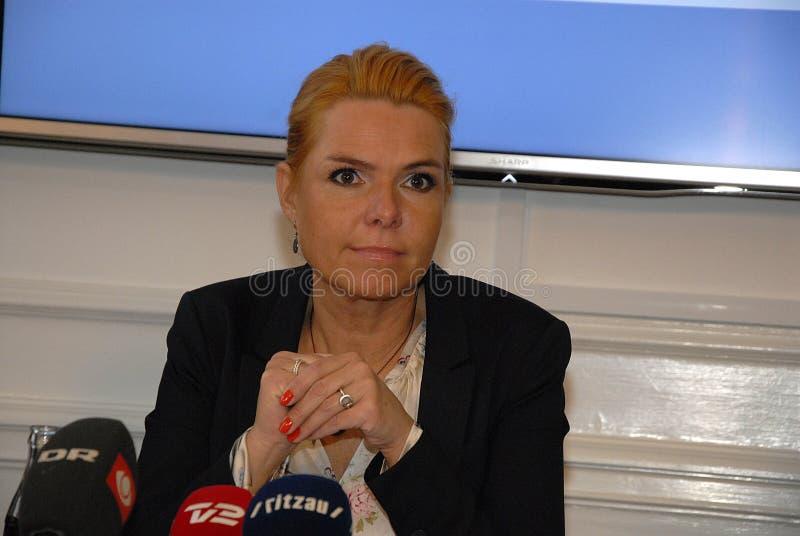 Ms INGER STOJBERG_MINISTER PER INTEGRAZIONE fotografie stock libere da diritti