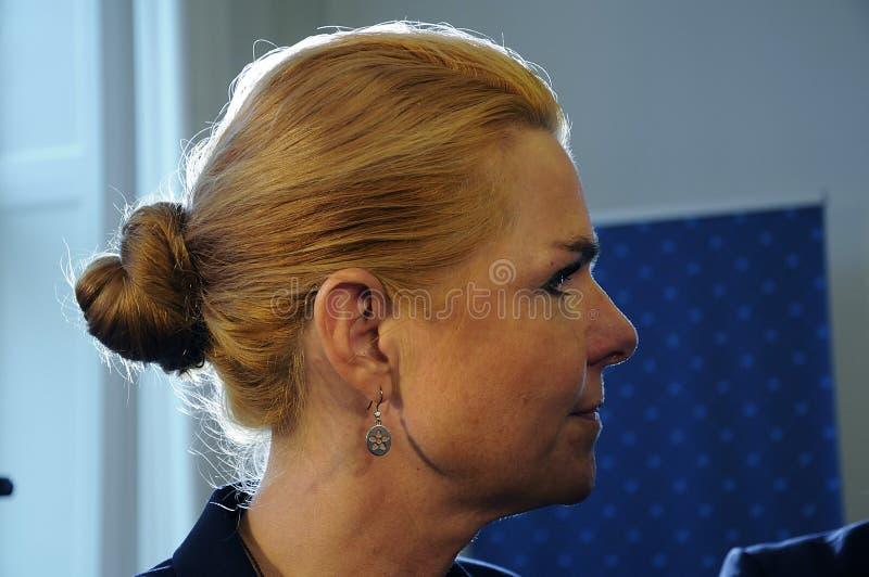 Ms INGER STOJBERG_MINISTER PER INTEGRAZIONE immagini stock libere da diritti