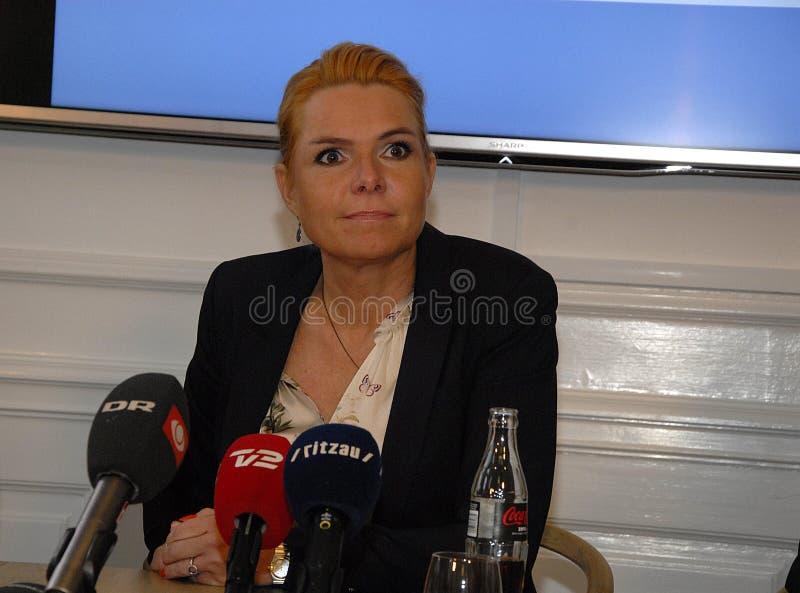 Ms INGER STOJBERG_MINISTER PER INTEGRAZIONE immagine stock