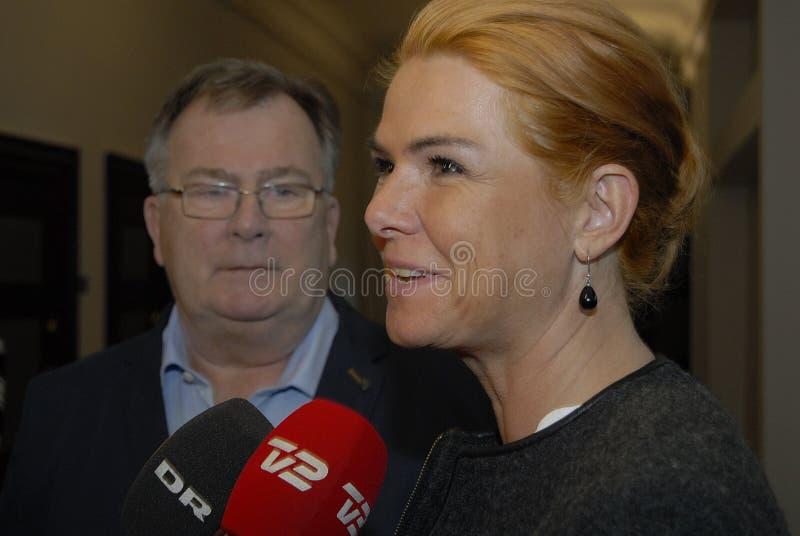 Ms INGER STOJBERG _MINISTER PER INTEGRAZIONE fotografie stock libere da diritti