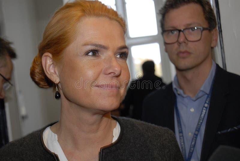 Ms INGER STOJBERG _MINISTER PER INTEGRAZIONE fotografia stock