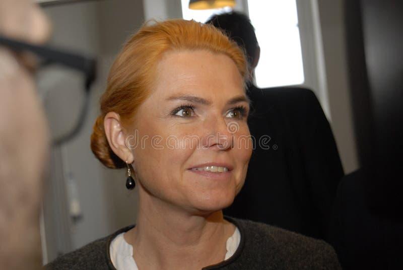 Ms INGER STOJBERG _MINISTER PER INTEGRAZIONE immagini stock libere da diritti