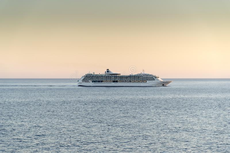 MS Jewel of the Seas at sunset royalty free stock photography