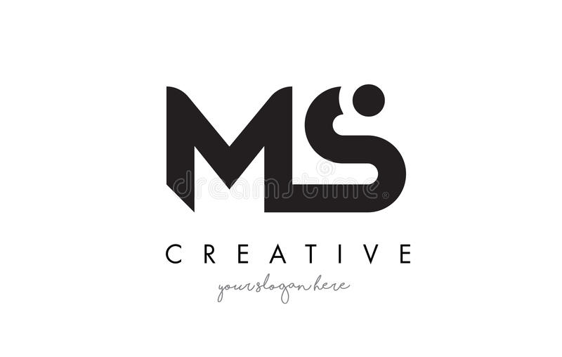 MS Letter Logo Design with Creative Modern Trendy Typography. stock illustration