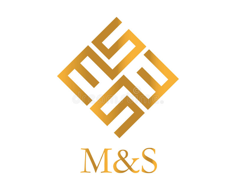 MS Logo Design. AI 10 supported royalty free illustration