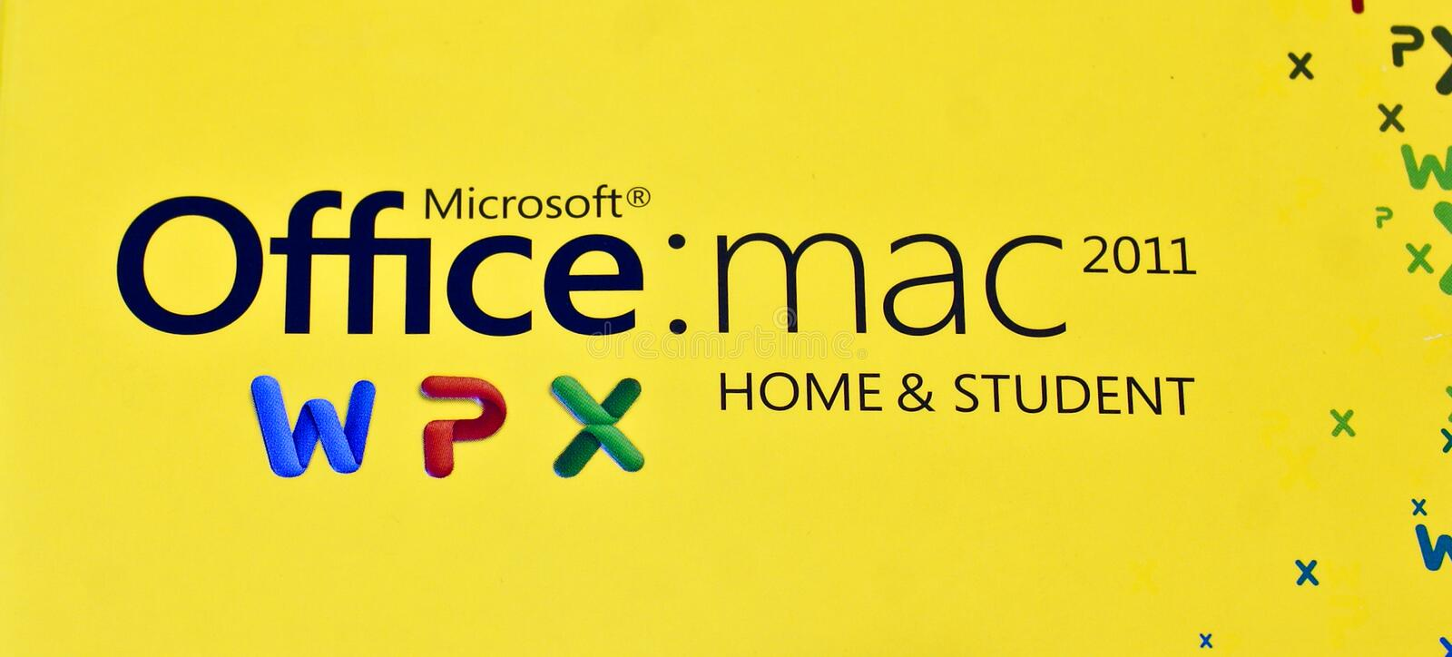 MS Logo of Office Mac 2011 Home & Student edition stock photography