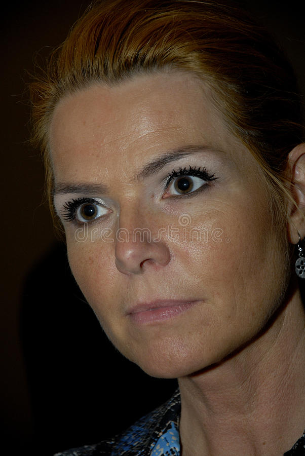 Ms MINISTRO DI INGER STOJBERG_DANISH PER INTEGRAZIONE immagini stock libere da diritti