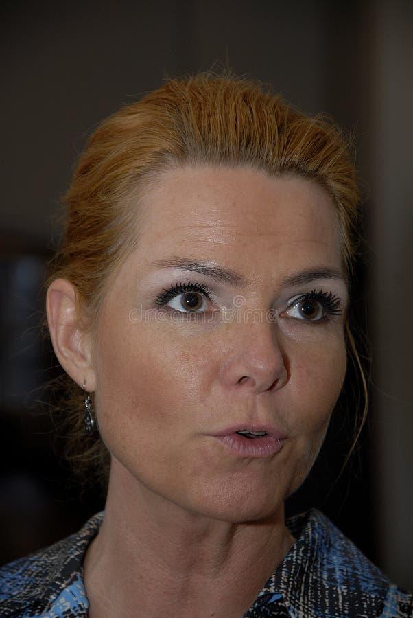 Ms MINISTRO DI INGER STOJBERG_DANISH PER INTEGRAZIONE fotografia stock libera da diritti