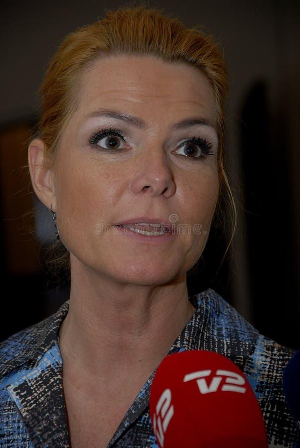 Ms MINISTRO DI INGER STOJBERG_DANISH PER INTEGRAZIONE fotografie stock libere da diritti