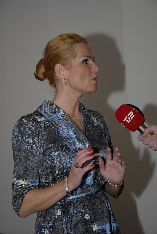 Ms MINISTRO DI INGER STOJBERG_DANISH PER INTEGRAZIONE immagine stock