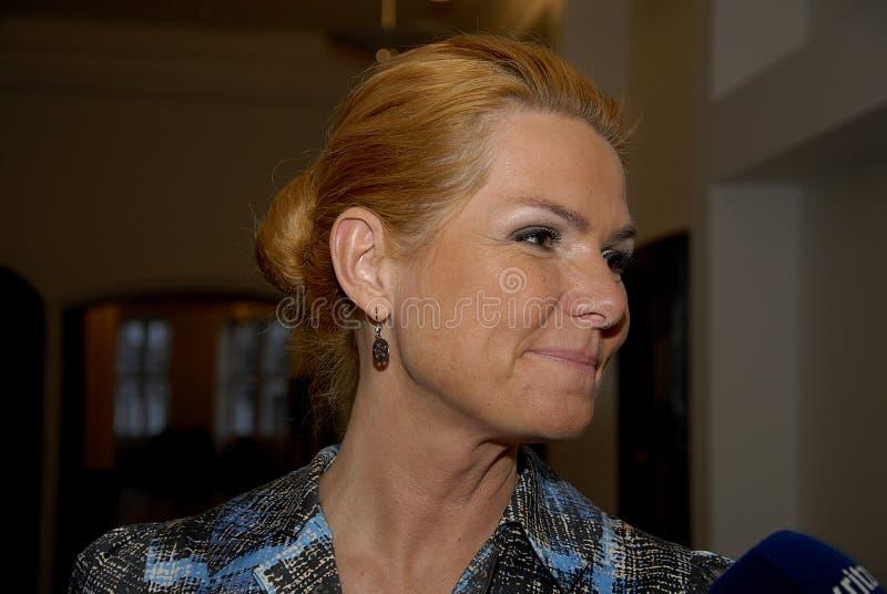 Ms MINISTRO DI INGER STOJBERG_DANISH PER INTEGRAZIONE fotografie stock