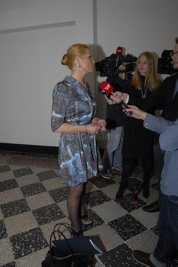 Ms MINISTRO DI INGER STOJBERG_DANISH PER INTEGRAZIONE immagine stock libera da diritti